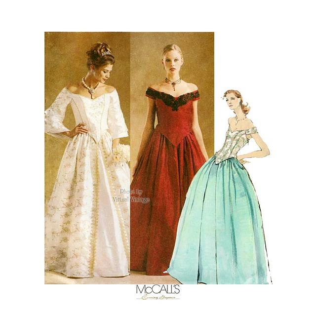 Mccalls 3681 Wedding Dress Or Evening Gown Pattern Size 6 8 10 12