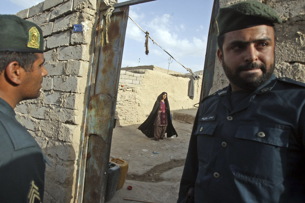 The arrest of this family's father on charges of drug use in his house by the Zahedan Police.