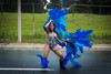 A masquerader dances during the parade, Saturday. The carnival is also a great source of pride for the Caribbean community living in Toronto.