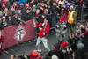 TFC'S midfielder Jay Chapman celebrates the team's first ever MLS Cup victory with thousands of fans who packed Nathan Phillips Square, Toronto, Monday, December 11, 2017