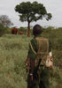 Kenya Wildlife Ranger Mohamed Kamanya look at elephants in the Tsavo East national park, Wednesday, March 10, 2010 in Kenya.