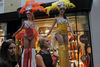 Women walk past models on stilts at the  Burlington Arcade during the Vogue Fashion's Night Out in London, Britain, 06 September 2012. Vogue Fashion's Night Out first started in 2009 under the supervision of the US Vogue editor-in-chief Anna Wintour. EPA/ KAREL PRINSLOO