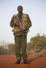 Kenya Wildlife Ranger Gilbert Gikos from the anti poaching unit pose for a picture in Tsavo East game park in Kenya 7 June 2013. PHOTO/KAREL PRINSLOO