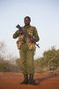 Kenya Wildlife Ranger Gafo Enos from the anti poaching unit pose for a picture in Tsavo East game park in Kenya 7 June 2013. PHOTO/KAREL PRINSLOO