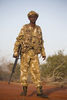 Kenya Wildlife Ranger Nelson Lewegat from the anti poaching unit pose for a picture in Tsavo East game park in Kenya 7 June 2013. PHOTO/KAREL PRINSLOO