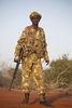 Kenya Wildlife Ranger Nelson Lewegat from the anti poaching unit pose for a picture in Tsavo East game park in Kenya 7 June 2013. PHOTO/KAREL PRINSLOO
