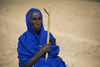 Hawa Mohamed Aralewho raise eleven grandchildren at her homestead near the Dowli village in Puntland, Somalia 13 Sept 2013.