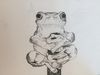 Frog on a Stick Sketch (18x14 inches) Graphite on Paper 2006