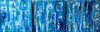 Metallic Rain (3 of 18x18x1.5 inches) Acrylic on Canvas 2015