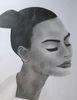 Face 1 Half Profile Sketch (10x12 inches) Graphite on Paper 2014