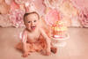 Baby Girl 1st Birthday Photography with a Cake Smash by Kate Jades Photography on the Wirral with people traveling from all over the North West including Liverpool & Cheshire.