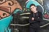 Boy posing at market graffiti machne yehuda jerusalem
