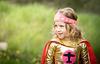 girl dressed up as hero wonder woman home made costume