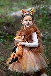 girl in fox Purim costume