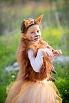 girl in fox Purim costume in Modiin