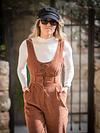 fashion model in Ein Kerem wearing jumpsuit