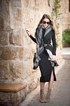 fashion model at Ein Kerem in black dress