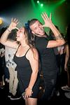 two teenagers dancing at a bat mitzvah party