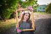 Bat Mitzvah girl posing in frame at Tel Shachar