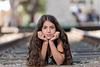 Bat Mitzvah girl on railway tracks at Tel Aviv