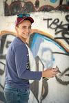 Bar Mitzvah boy spraying paint graffiti Modiin