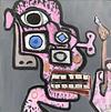 poster boy / oil on board / 36cm x 36cm / 2020