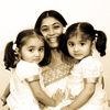 Gayatri with twins