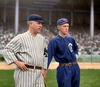 John McGraw - New York Giants and Johnny Evers - Chicago Cubs (1912)