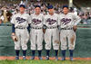 Dolph Camilli, Leo Norris, Chile Gomez, and Pinky Whitney - Philadelphia Phillies (1936). Original B&W Photo © 1936 Leslie Jones