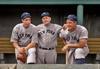 DiMaggio, McCarthy, and Gehrig - New York Yankees (1937). Original B&W © 1937 Leslie Jones