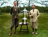 Roger Wethered (left) and Bobby Jones (right). 1930 Walker Cup at Royal St. Georges