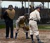 Billy Sullivan (catching - Chicago White Sox) & Frank Schulte (Batting - Chicago Cubs), Jim Johnston (Home Plate Umpire) - World Series (1906)