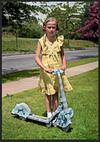 Young Girl With Birthday Scooter (1937)