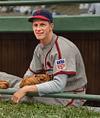 Stan Musial - St. Louis Cardinals (1942). Original B&W Photo © 1942 Leslie Jones