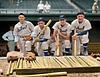 Bridges, Gehringer, Greenberg, and Walker - Detroit Tigers @ Fenway Park (1937). Original B&W Photo © 1937 Leslie Jones