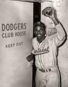 Jackie Robinson - Montreal Royals / Brooklyn Dodgers - Sepia Tone (1947)