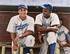 Roy Campanella & Jackie Robinson - Brooklyn Dodgers (1948)