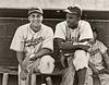 Roy Campanella & Jackie Robinson - Brooklyn Dodgers (Sepia Tone) (1948)