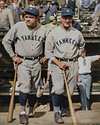 Babe Ruth & Lou Gehrig - New York Yankees (1927)