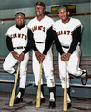 Willie Mays, Willie McCovey, & Orlando Cepeda - San Franciso Giants (1963)