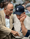 Ty Cobb Mentoring Mickey Mantle (1958)