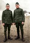 Private Raymond Reinke, USMC (on left)  - 6th Marines, AEF - France (1918)