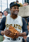 Roberto Clemente - Pittsburgh Pirates (1963). Original B&W Photo © 1963 Don Sparks