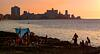 Sun bathing on the Malecon at Sunset
