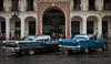 Two Classic 50s Oldsmobiles in Havana