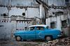 Classic American Car on Derelict Buidling Lot in Havana Cuba