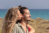 Kissing you. Couple Photoshoot at the beach. Son Serra de Marina, Mallorca