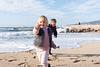 Beach treasure offering. Family photoshoot at the beach. Palma de Mallorca. Balearic Islands.