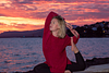 Red Sky Yoga. Portrait session at Alcanada beach park. Alcudia. Mallorca. Balearic Islands