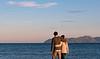 Sunset colours. Couple Photoshoot at Alcanada Beach. Alcudia, Mallorca